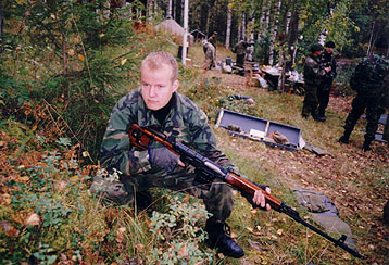 Finnish sniper with SVD