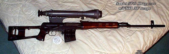 Russian SVD Izhmash with 1pn58 scope