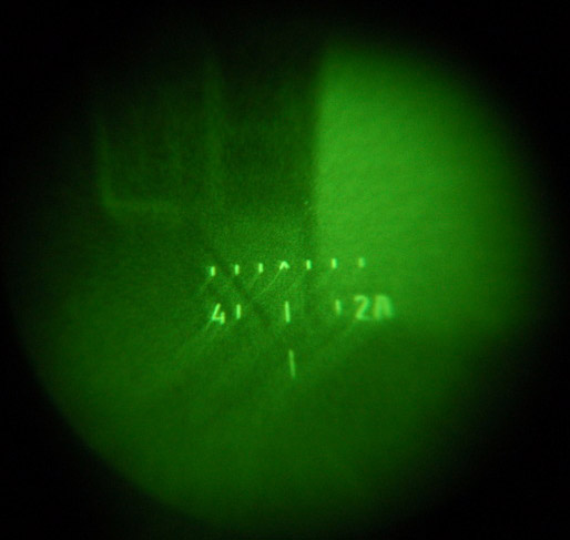 1PN58 scope reticle at night